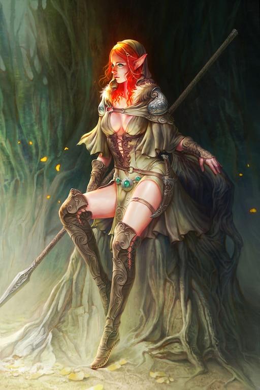 Sexy redhead elf black reality