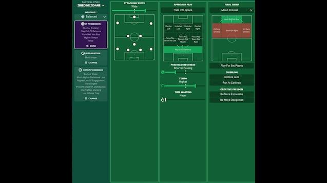 Steam Workshop Zinedine Zidane Tactical Style