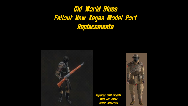 Old World Blues FNV Replacement Models - Skymods