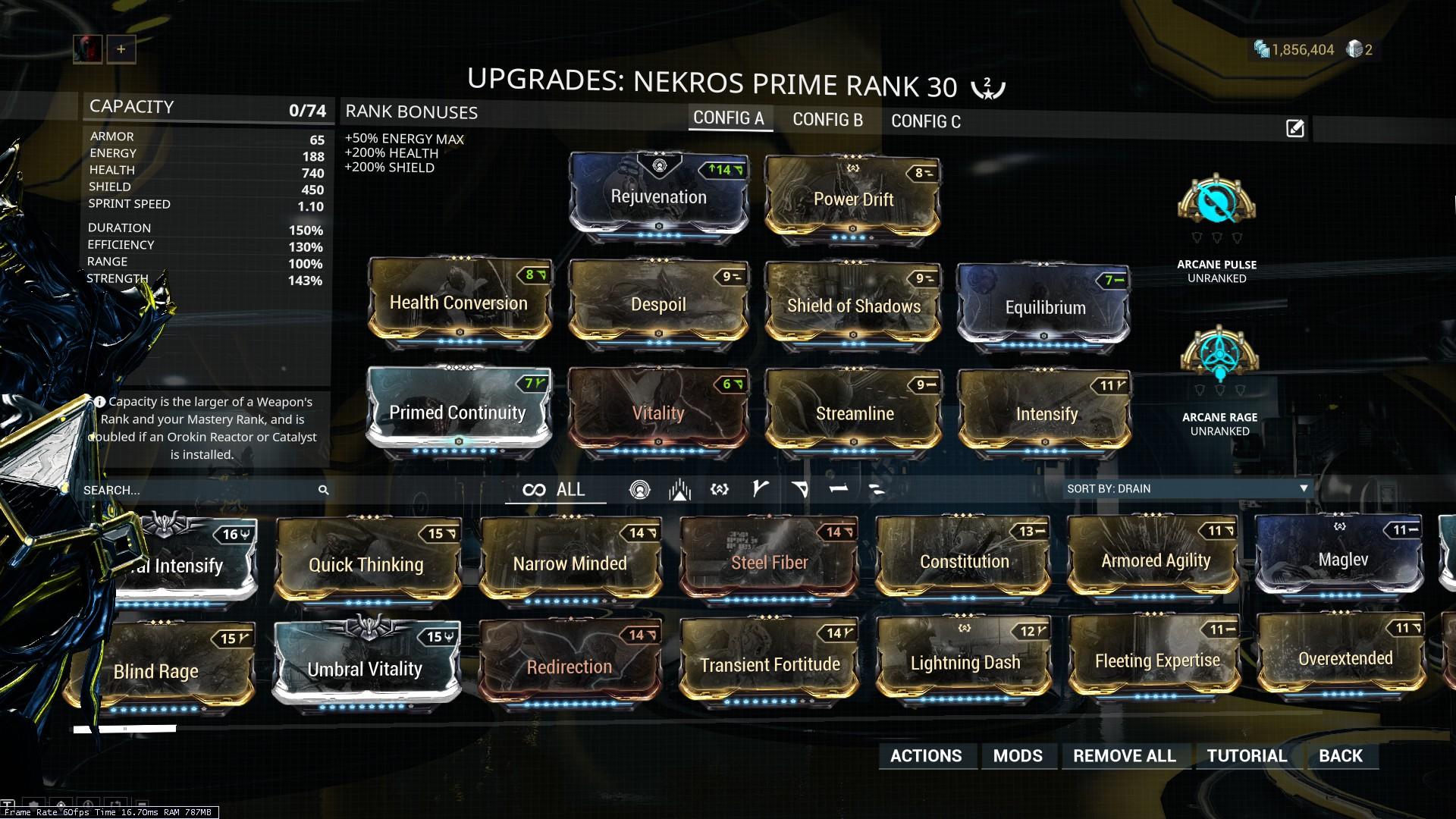 Best Tank Warframe 2019 A tanky Nekros build to farm (mod combos build)   General