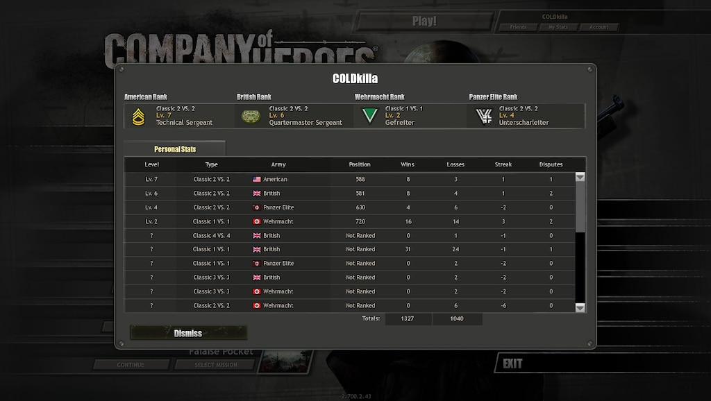 Steam Community Screenshot Re Earned My American British Ranks After An Unfortunate Rank Reset Also A