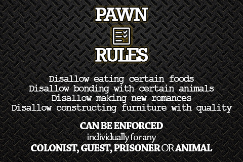 Steam Workshop :: Pawn Rules - Food policies and more