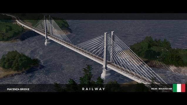 Steam Workshop :: Railway Piacenza High Speed Rail Bridge
