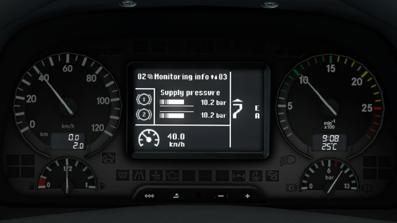 Steam Workshop Mercedes Benz Actros 2009 Realistic Dashboard Computer