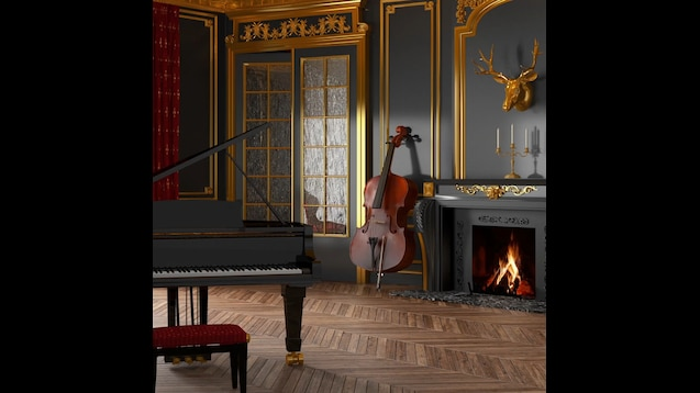 Steam Workshop :: 4K HDR - Ambient Music Room with Fireplace