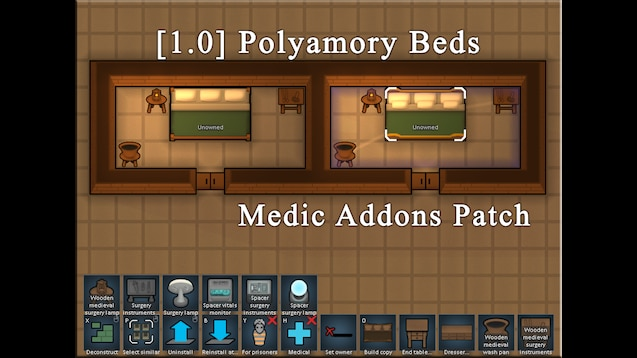 Steam Workshop :: [1 0] Polyamory Beds (Medic Addons Patch)