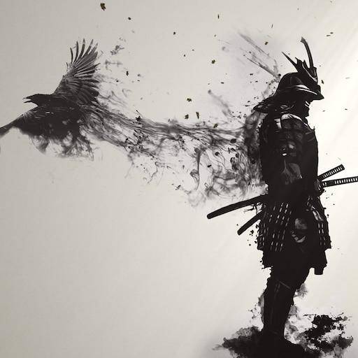Steam Workshop Epic Samurai With Crow 4k Wallpaper