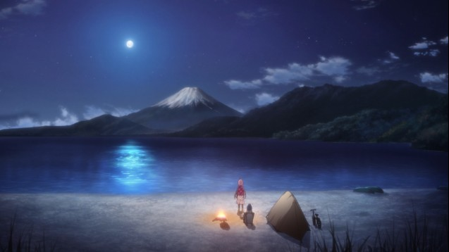 steam workshop yuru camp mount fuji moonlight scene