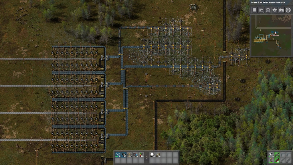 Steam Community :: Screenshot :: Simple 4 lane miner setup with