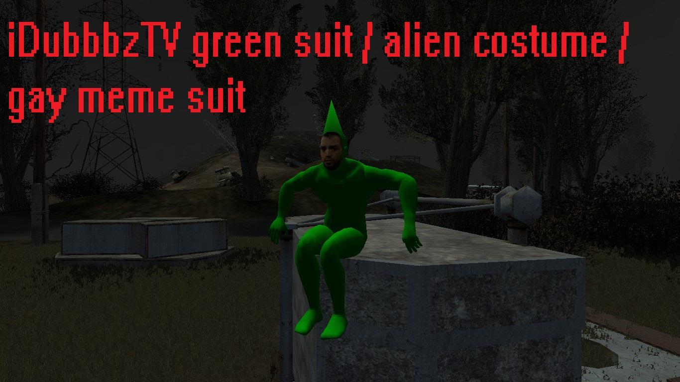 Steam Workshop Idubbbztv Green Suit Alien Costume Idubbbz Gay