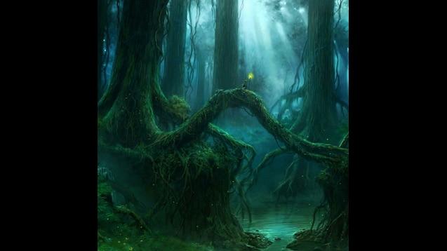 Steam Workshop Night Magic Forest Wallpaper