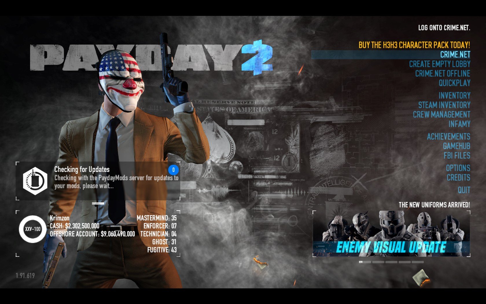 payday 2 offshore account betting lines