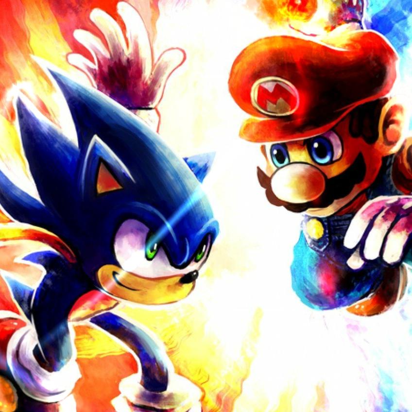 Steam Workshop Sonic Vs Mario Wallpaper Animado