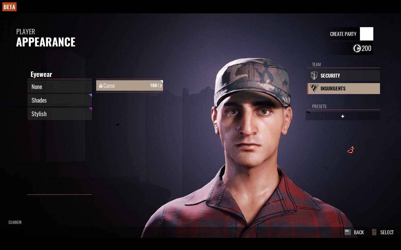 Insurgent Head with Patrol cap