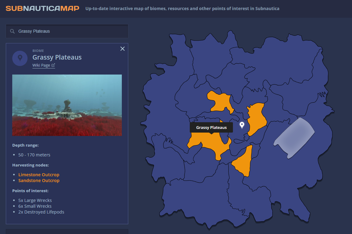 Subnautica Karte.Steam Community Guide Interactive Subnautica Map