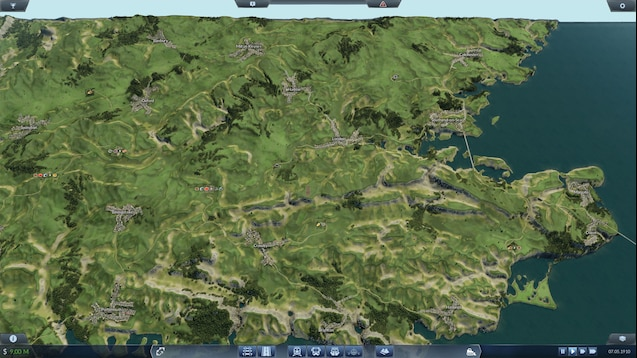 Map Of South England Uk.Steam Workshop South England Uk With Random Industry Sudengland