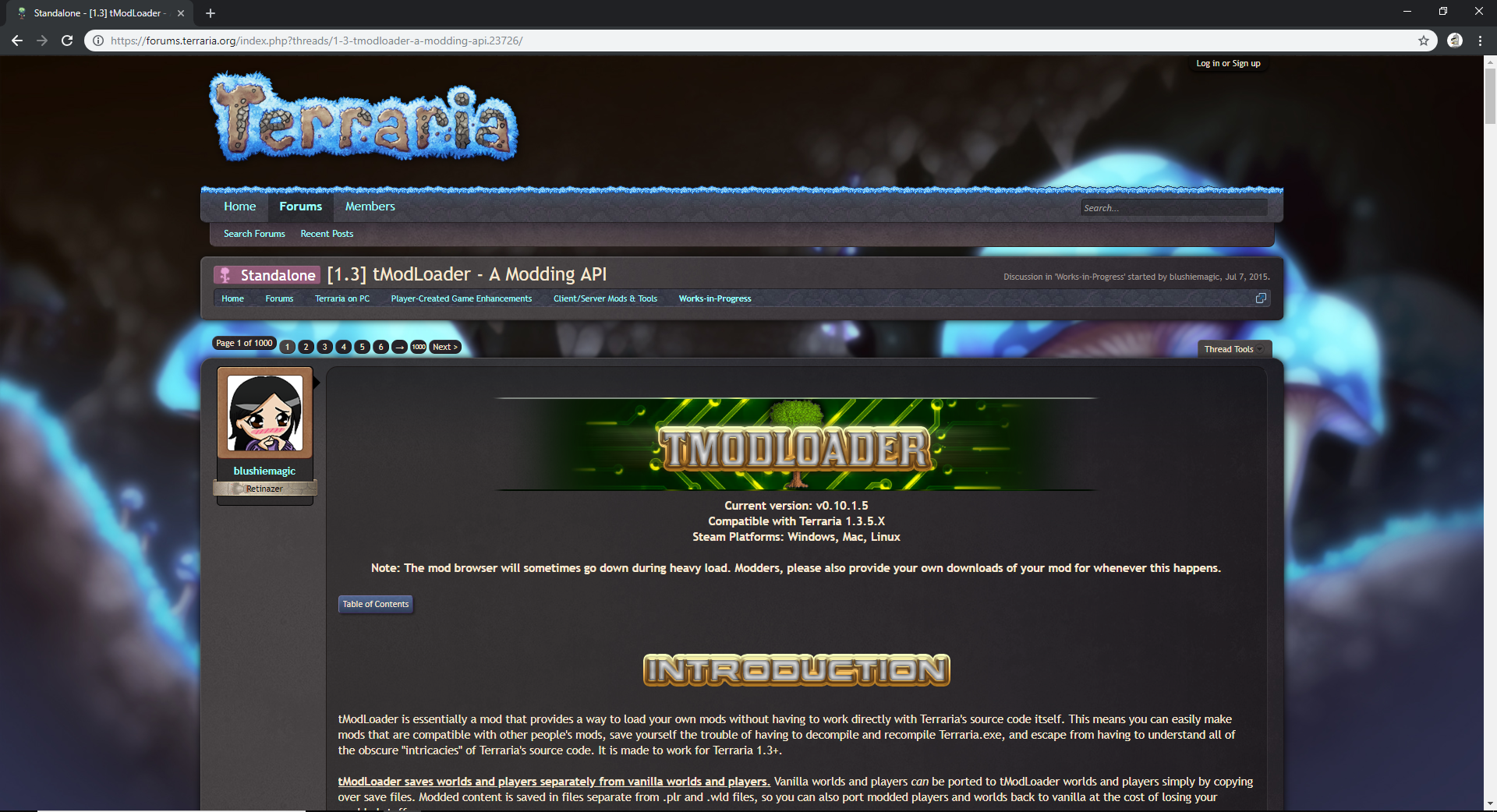 Steam Community :: Guide :: How to install tModLoader