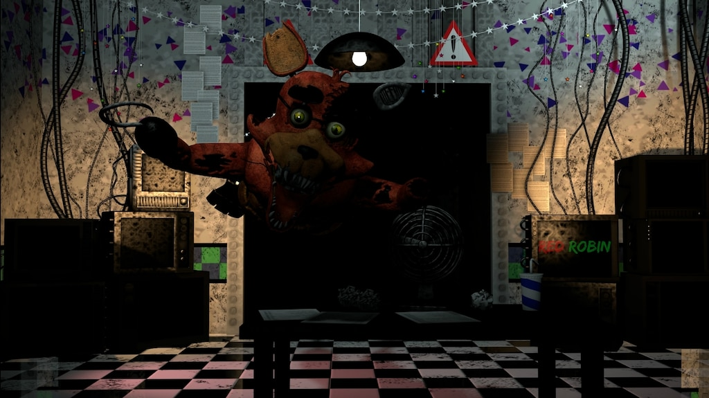 Steam Community :: :: Stylized Withered Foxy {Jumpscare Render}