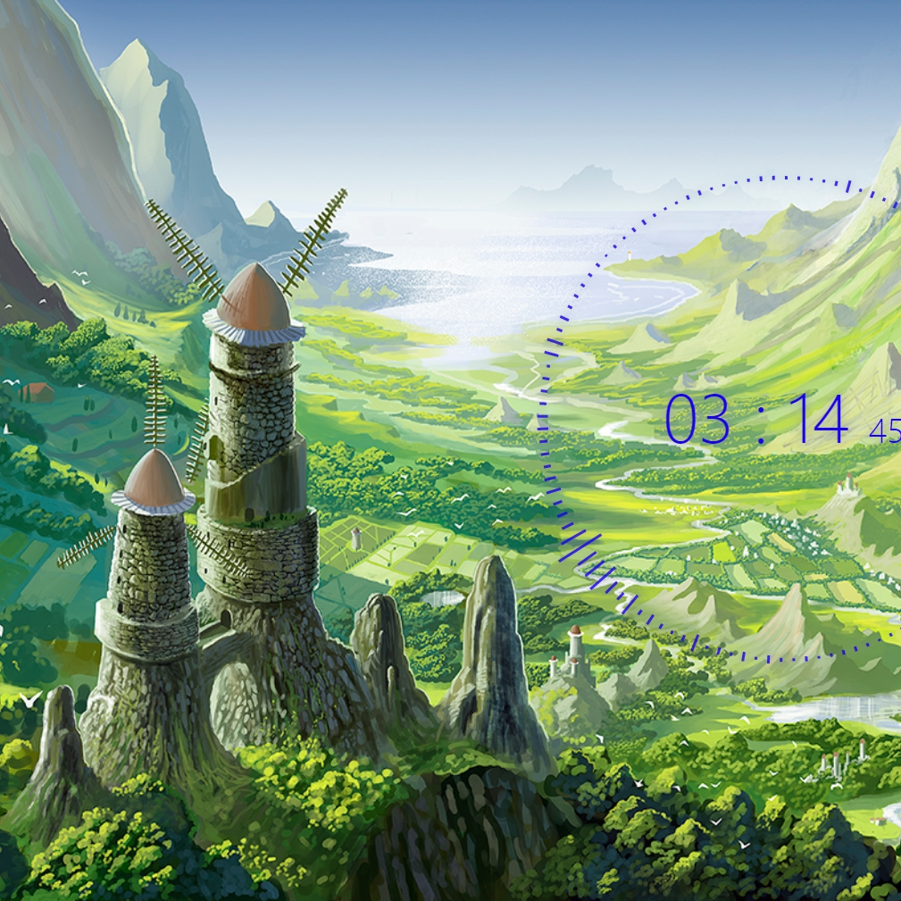 Steam Workshop Nausicaa Of The Valley Of The Wind Clock Wallpaper