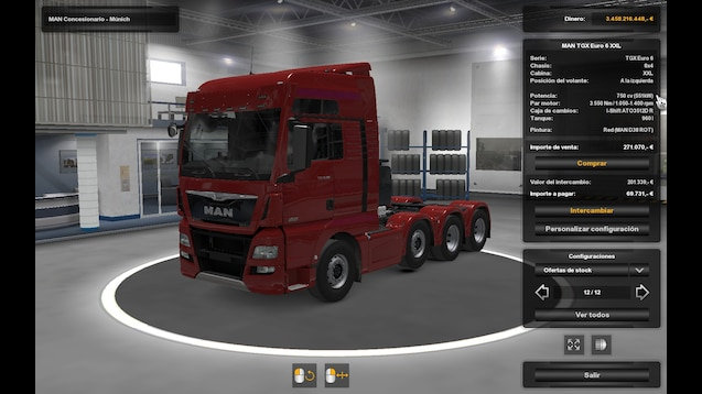 Steam Workshop :: Man Euro 6 new 750 with engine and gearbox volvo