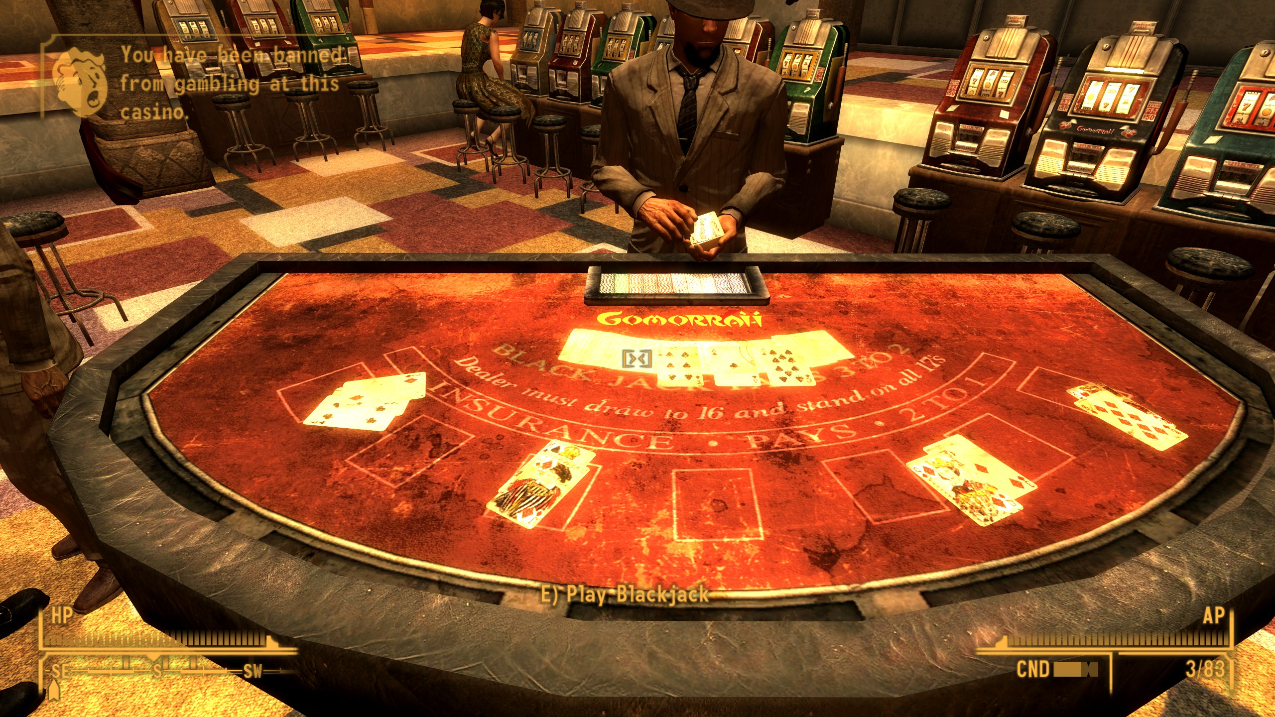 FALLOUT NEW VEGAS KICKED OUT OF CASINO