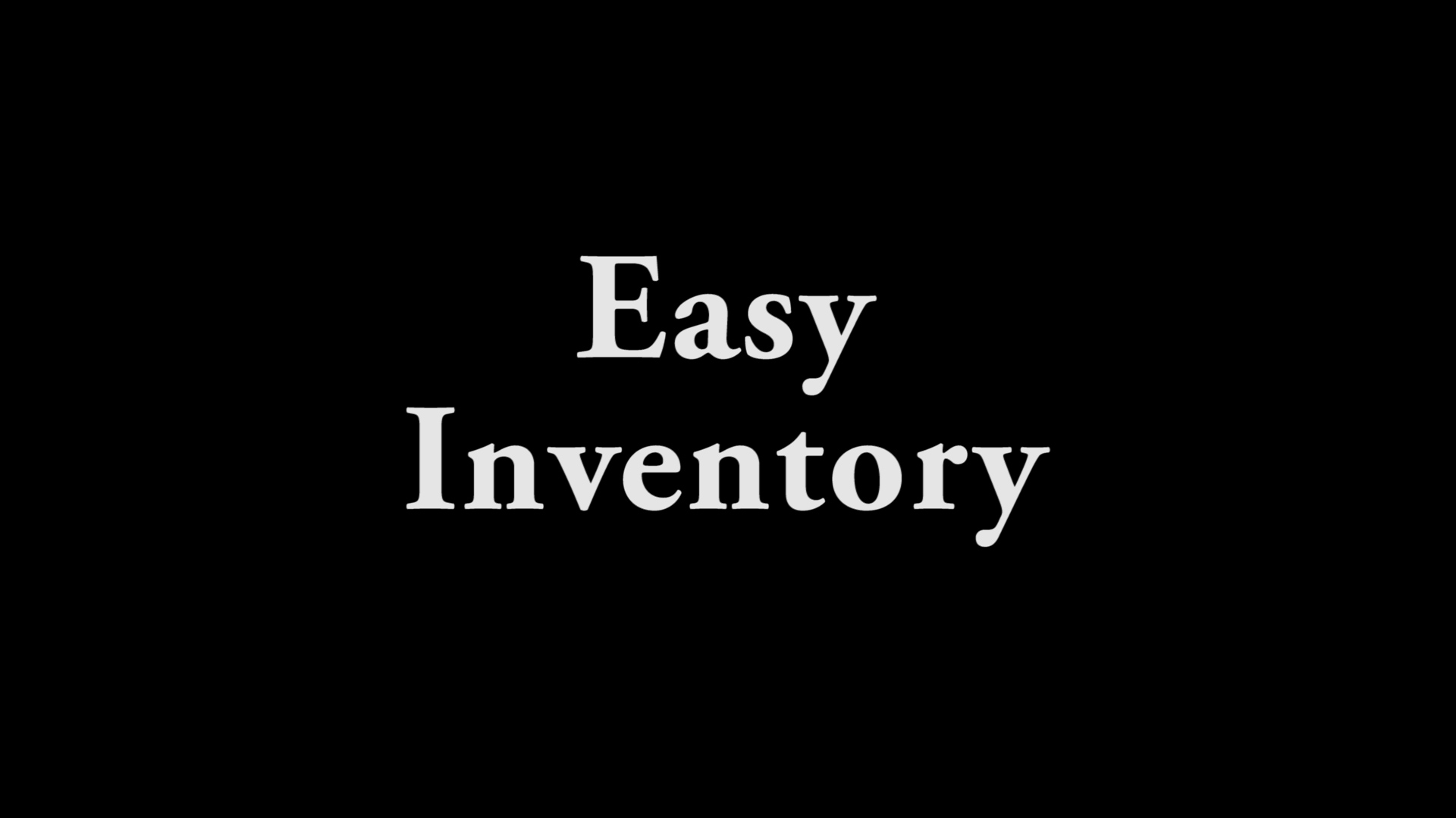 Easy Inventory
