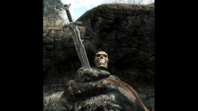 Steam Workshop :: [Skyrim] Sword in Stone with Skull (Rebel