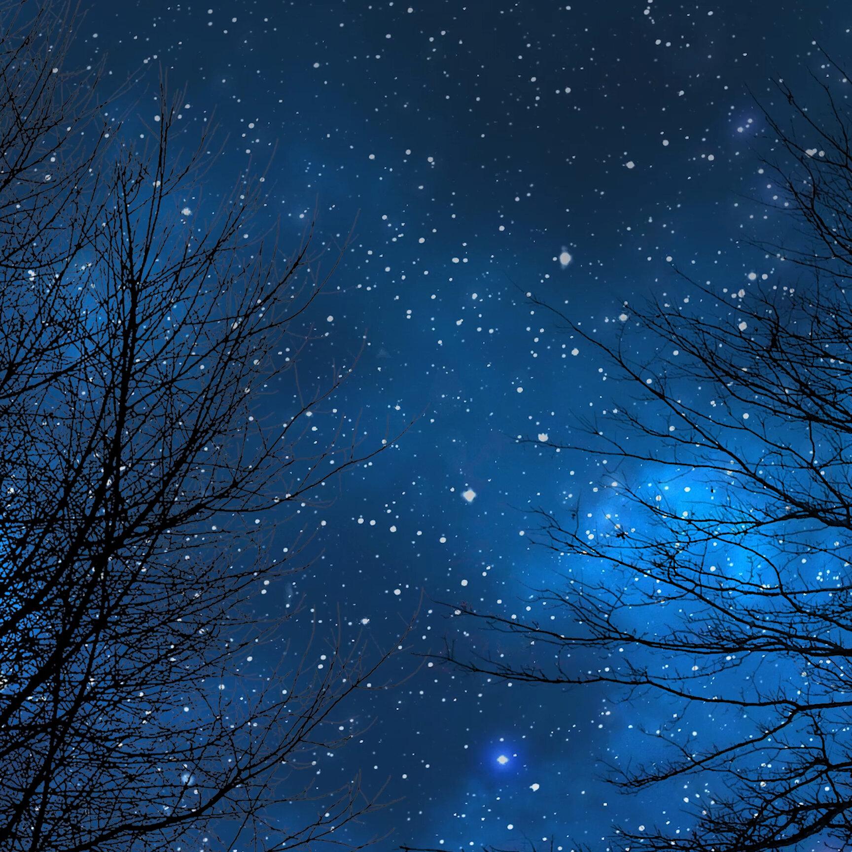 Wallpaper engine starry night sky blue version 4k - Starry sky 4k ...