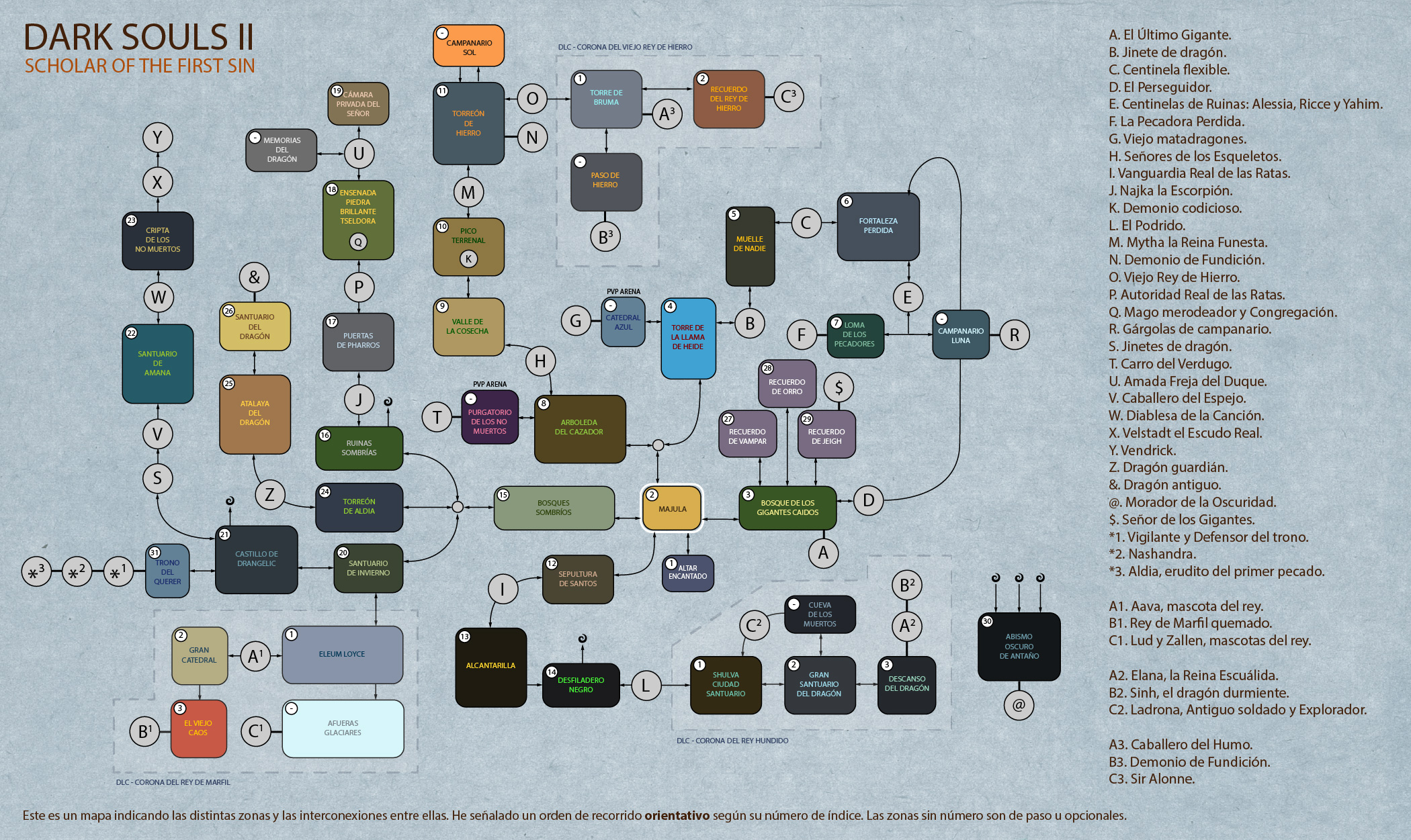 Steam Community :: Guide :: Mapa Orientativo - DARK SOULS II ... on tomb raider ii map, crusader kings ii map, five nights at freddy's map, guild wars 2 map, tales of symphonia chronicles map, divinity ii map, devil may cry map, demon's souls map, metal gear solid 5 map, diablo ii map, lineage ii map, jak ii map, the witcher map, dead space map,