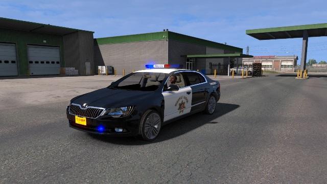 Steam Workshop Ats Highway Patrol Usa Skin For Skoda Superb