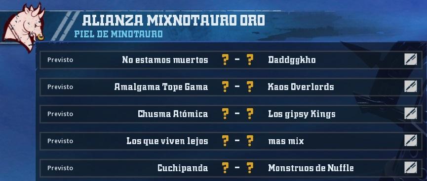 Liga Alianza Mixnotauro 1 - División CUERNO de ORO / Jornada 3 - hasta el domingo 10 de Marzo BB266A07E57D7661C4D6500B39566372C3EECD03