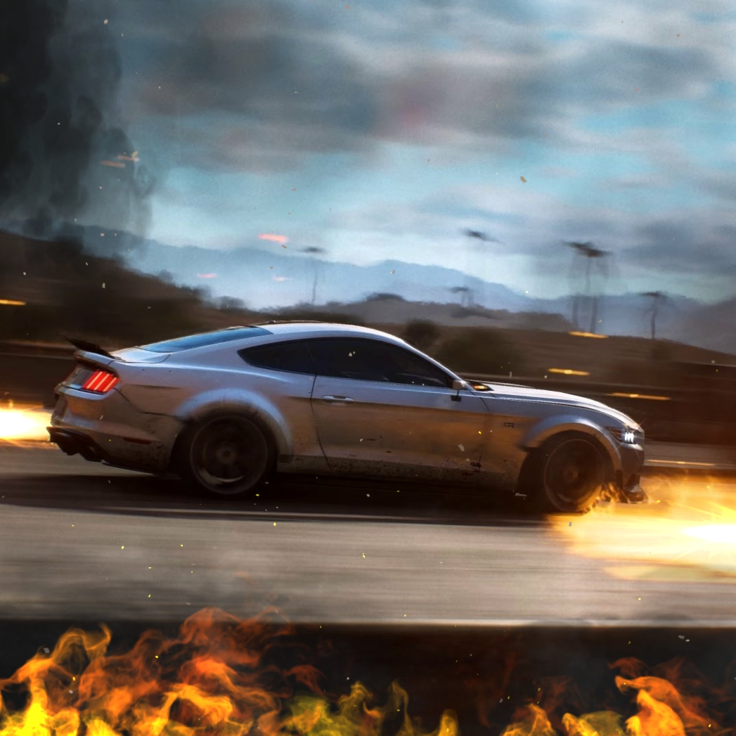 Ford Mustang Gt On Fire Need For Speed Payback