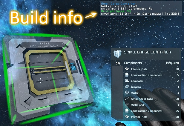BuildInfo (extra block&terminal info, air leak finder)
