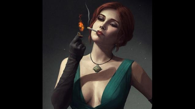 Steam Workshop Triss Merigold Noir Style Hd Artwork By