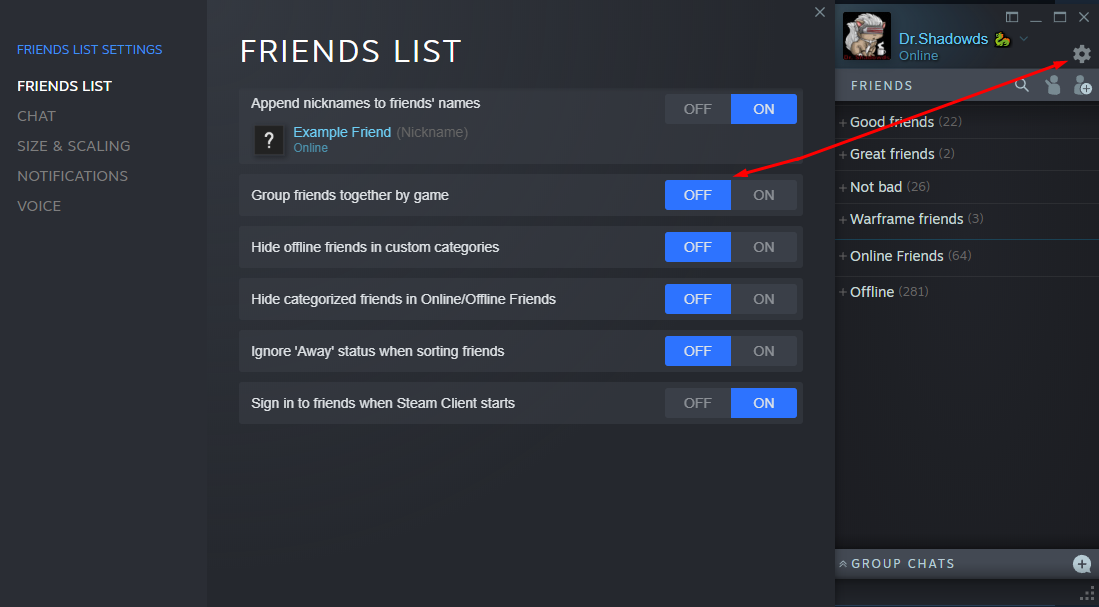 Steam Community :: :: How to turn off groups friends by games
