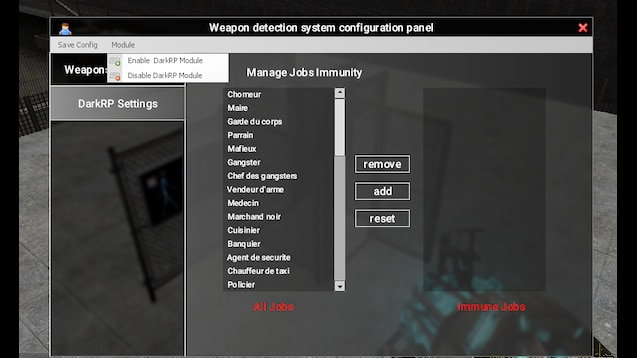 Steam Workshop :: Weapon Detector System [Customizable ingame]