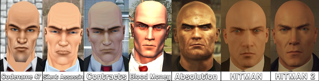Steam Community Evolution Of Agent 47 S Face Updated