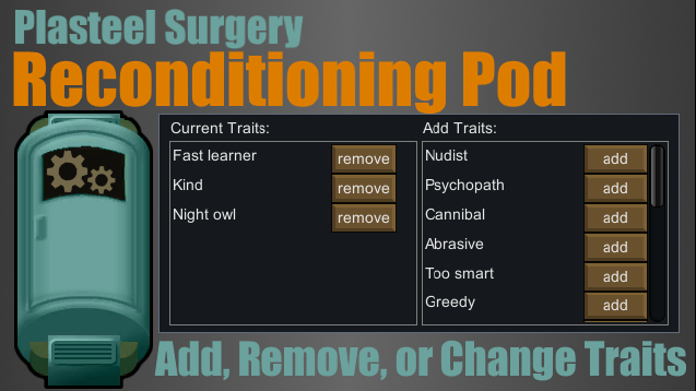 PS] Reconditioning Pod - Skymods