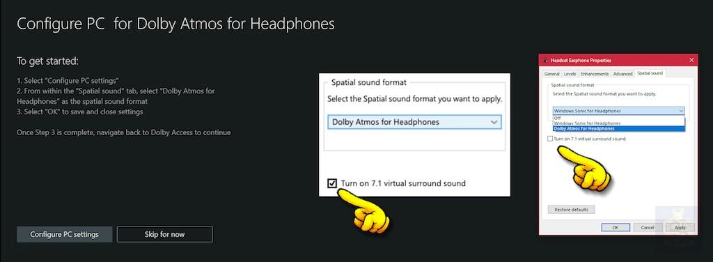 Steam Community :: :: Dolby Atmos in Windows 10 = 7 1 virtual