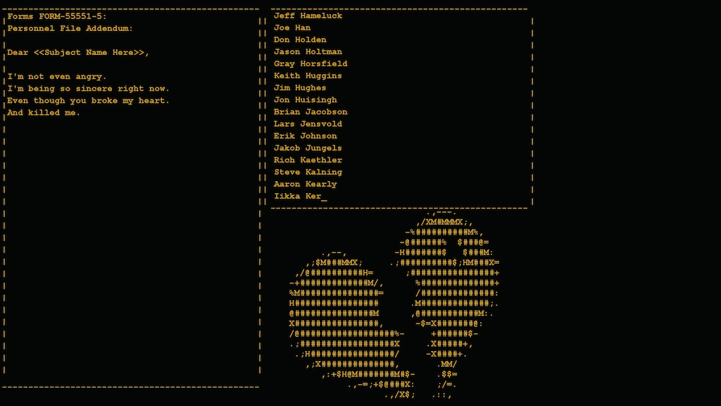 Steam Community :: Screenshot :: Broken Heart ANSI art