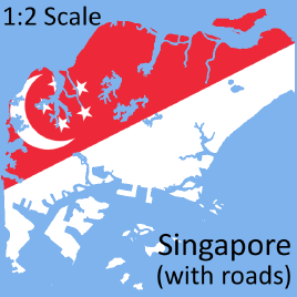Steam Workshop :: Singapore 1:2 Scale Map with roads