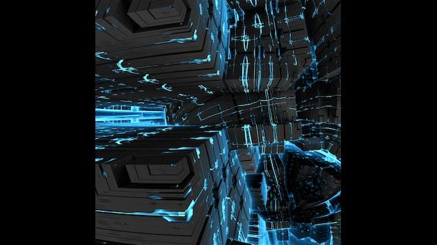 7680x1440 Blue Wallpaper (No Animation