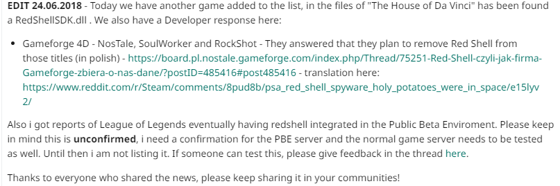 Steam Community :: Guide :: How to block the REDSHELL spyware (new