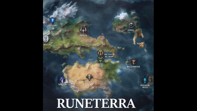 Steam Workshop :: LoL Map of Runeterra on diablo 3 world map, pokemon mystery dungeon world map, lol map, concept art world map, treasure map,