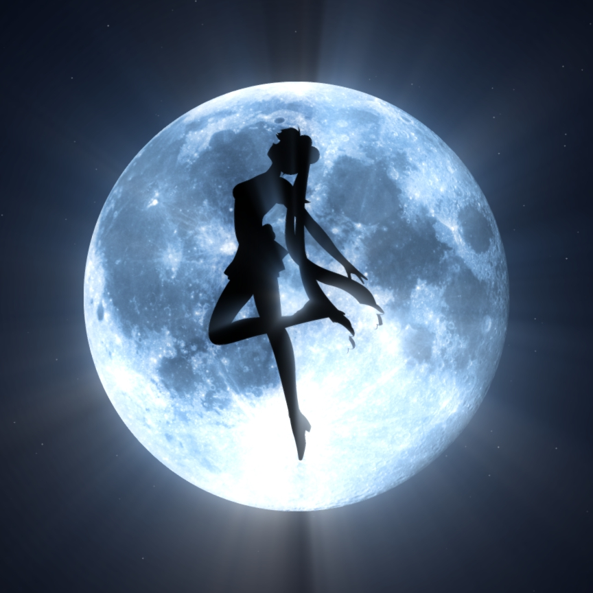 Steam Workshop Sailor Moon Silhouette 4k