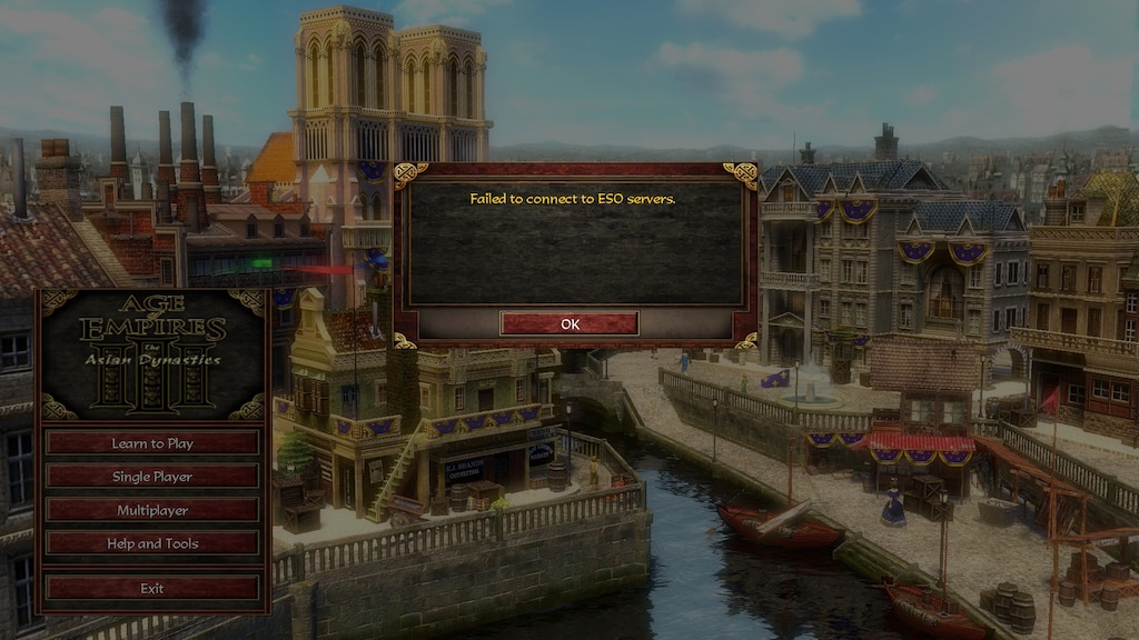 Age Of Empires 3 Eso Online Failed To Join Game | Legacy Time