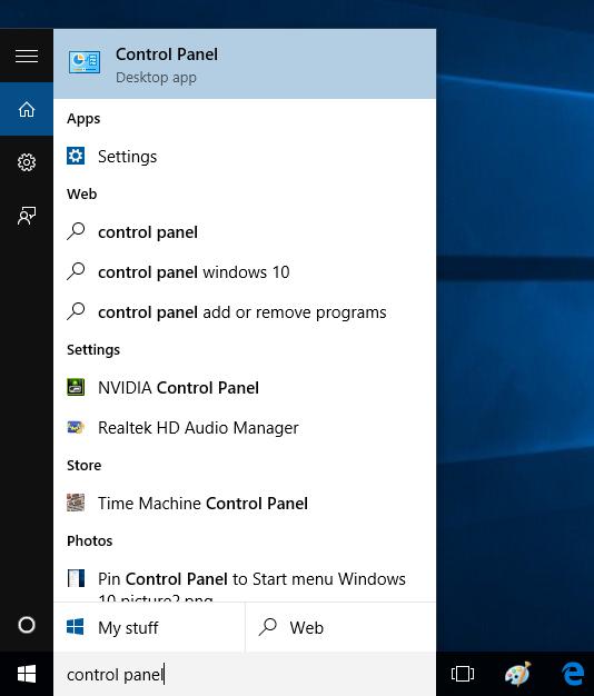 windows 10 find nvidia control panel