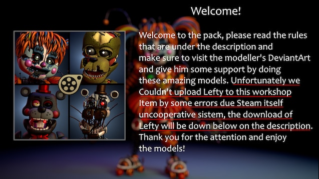 Steam Workshop :: [FNAF6] Scrap Animatronics Pack