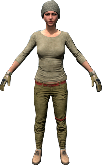 pubg female character hair