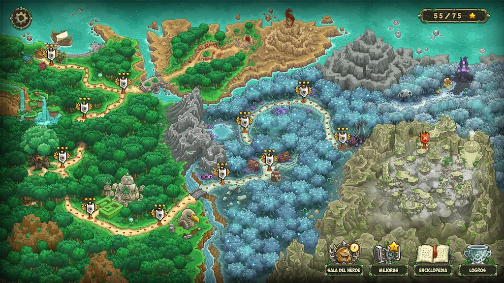 Steam Community :: Screenshot :: Faery Grove - All missions 3 Stars